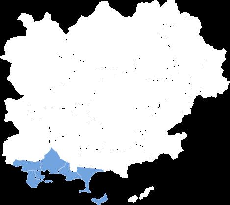 Carte de zone d'intervention